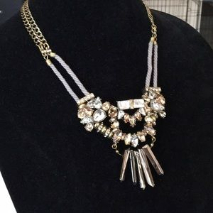 BaubleBar Rope and Brass Mixed Metals Necklace